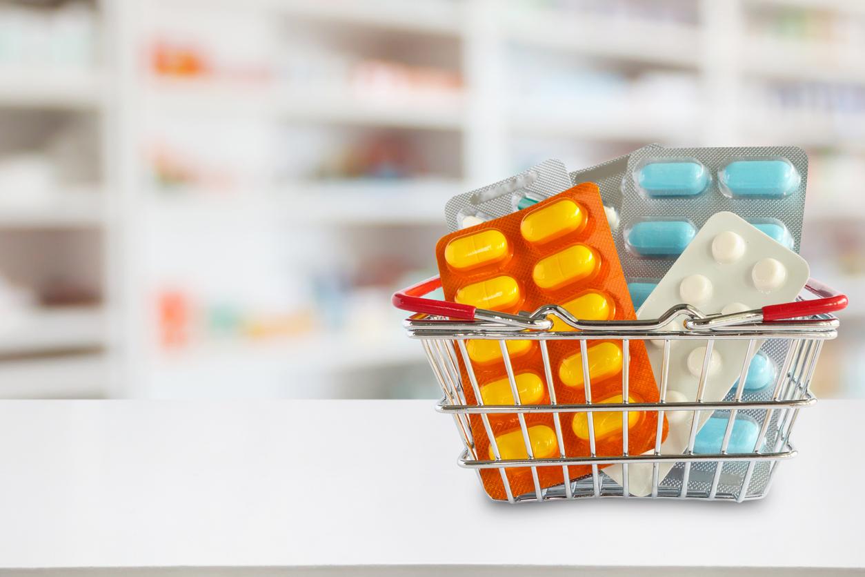 Basket of OTC pills